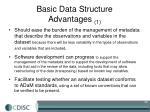 basic data structure advantages 1