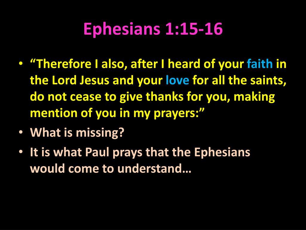 Ephesians 1:15-16