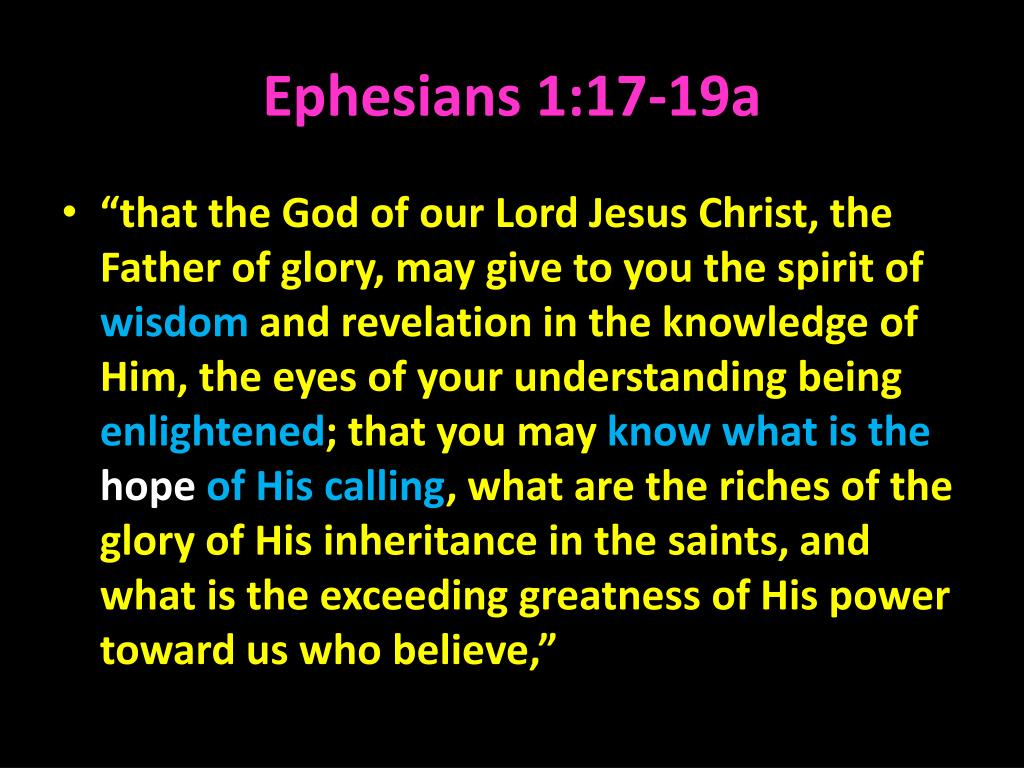 Ephesians 1:17-19a