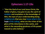 ephesians 1 17 19a