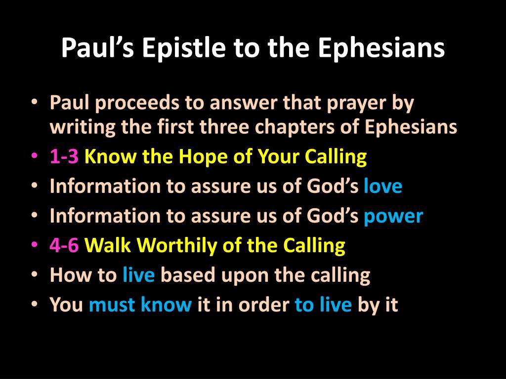 Paul's Epistle to the Ephesians