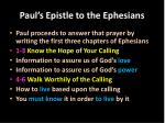 paul s epistle to the ephesians