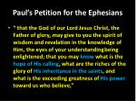 paul s petition for the ephesians