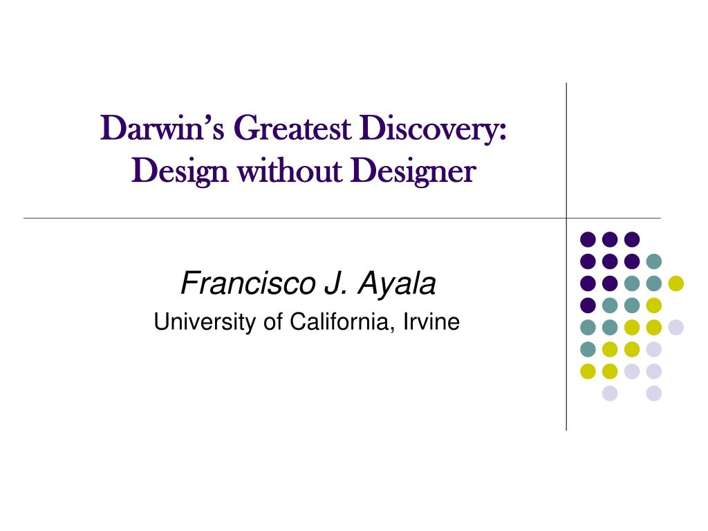 darwin s greatest discovery design without designer l.