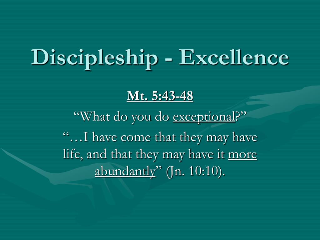 discipleship excellence l.