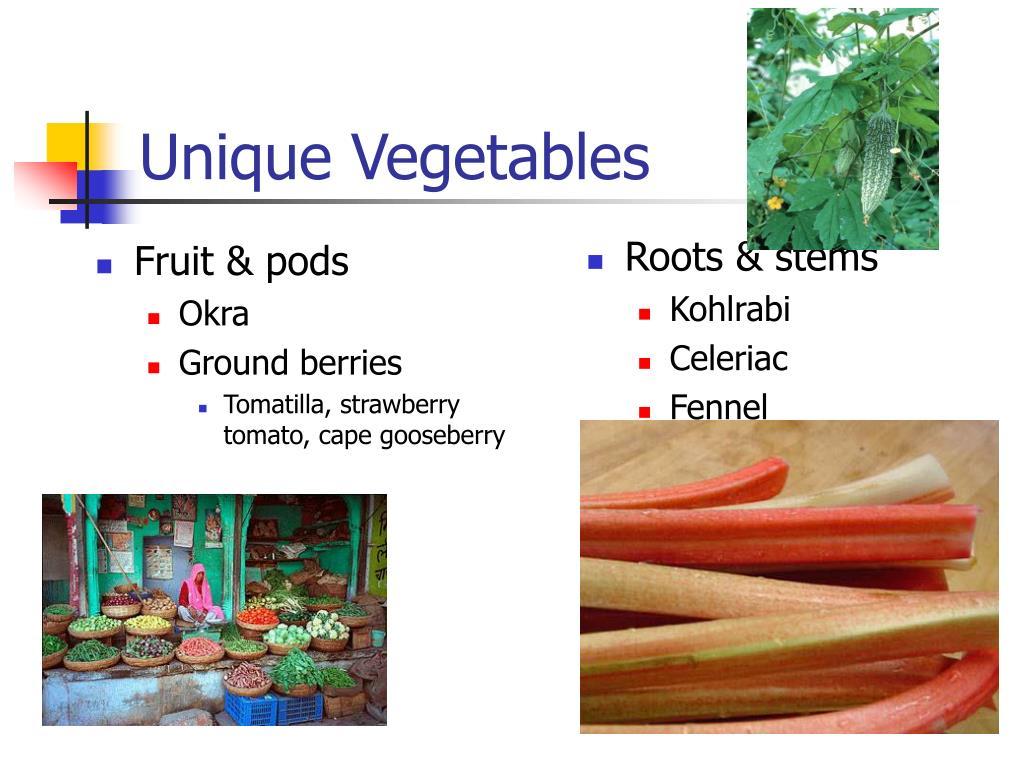 unique vegetables l.