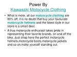 power by kawasaki motocycle clothing