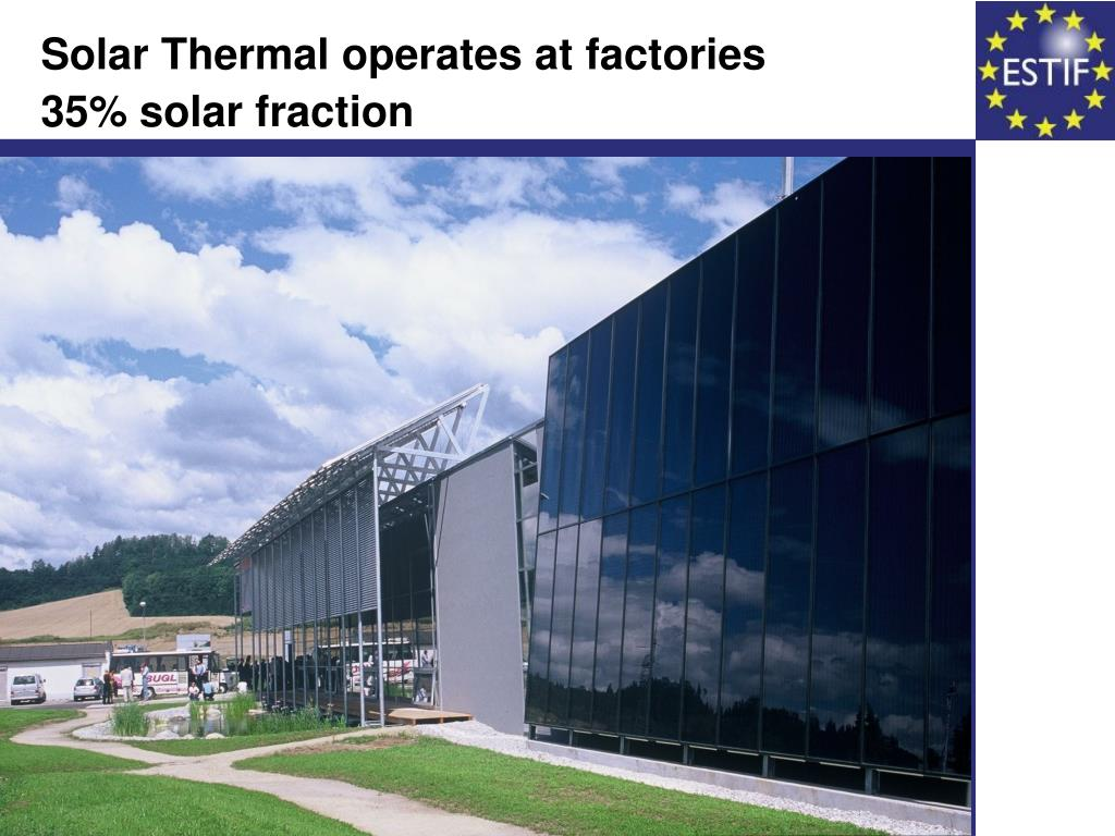Solar Thermal operates at factories