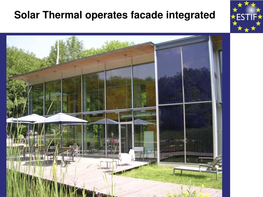 Solar Thermal operates facade integrated