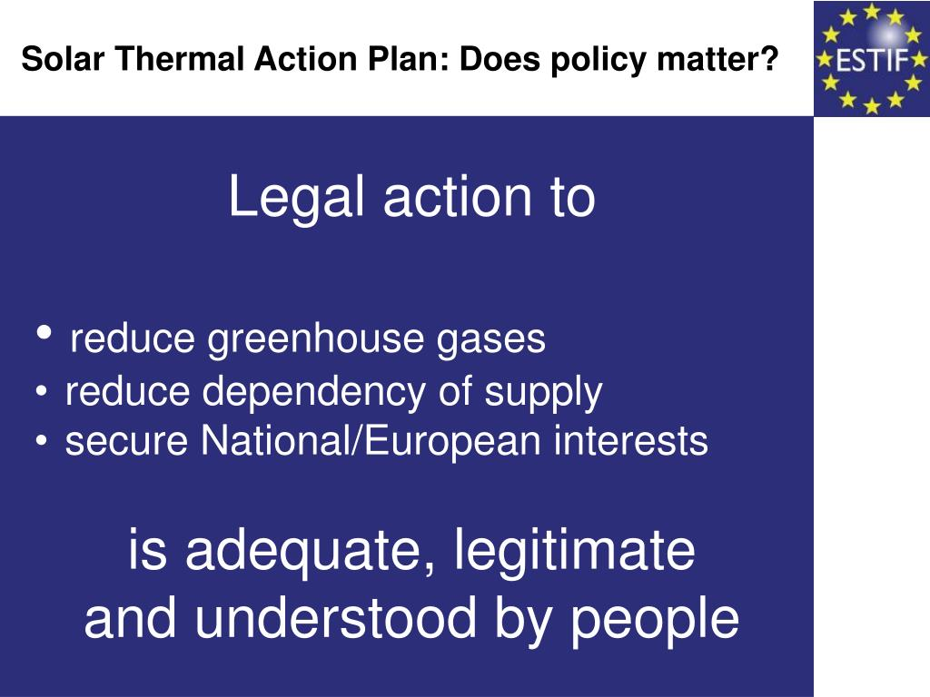 Solar Thermal Action Plan: Does policy matter?