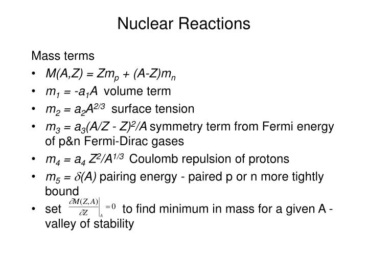 Nuclear reactions3