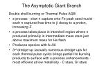 the asymptotic giant branch19