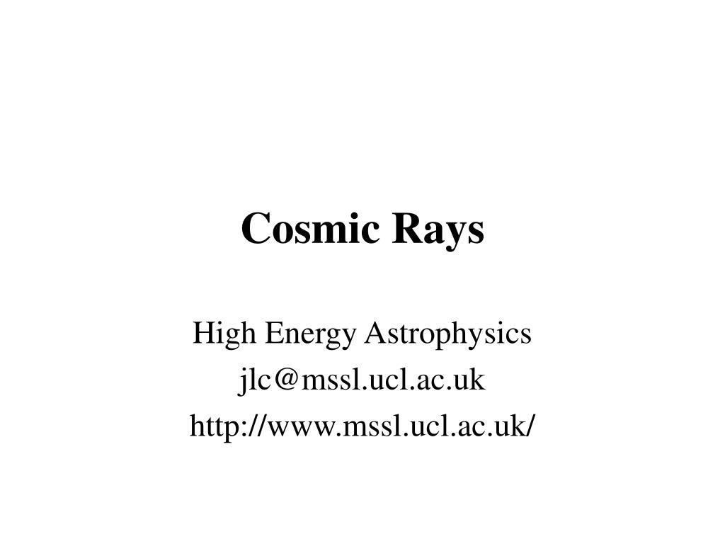 cosmic rays l.