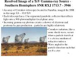 resolved image of a tev gamma ray source southern hemisphere snr rxj 1713 7 3946