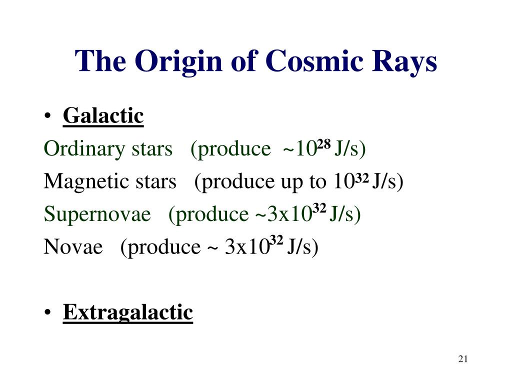 The Origin of Cosmic Rays