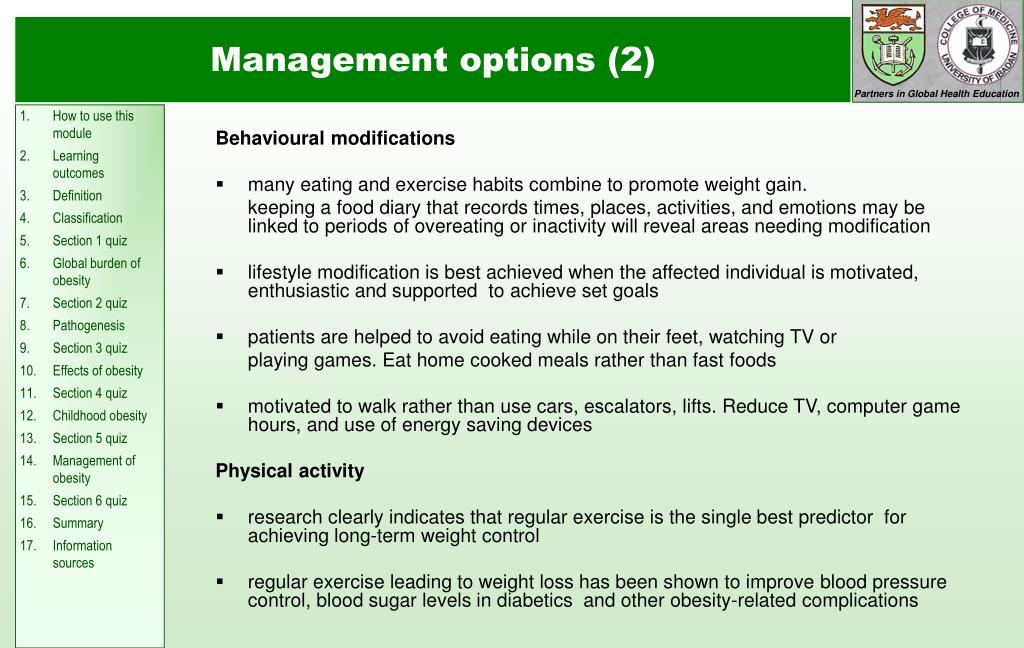 Management options (2)