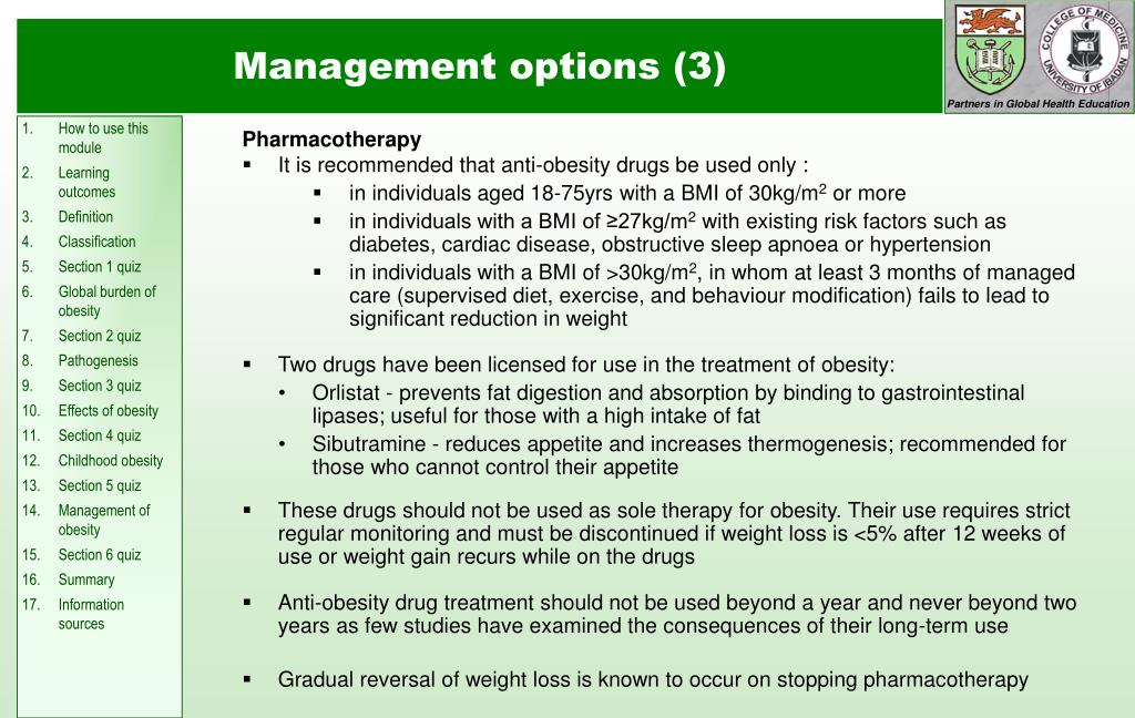 Management options (3)
