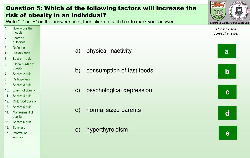 Question 5: Which of t