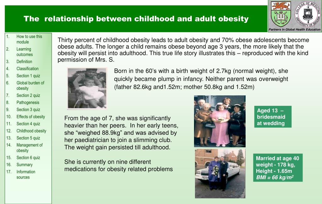 The  relationship between childhood and adult obesity
