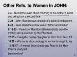 other refs to women in john