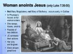 woman anoints jesus only luke 7 36 50