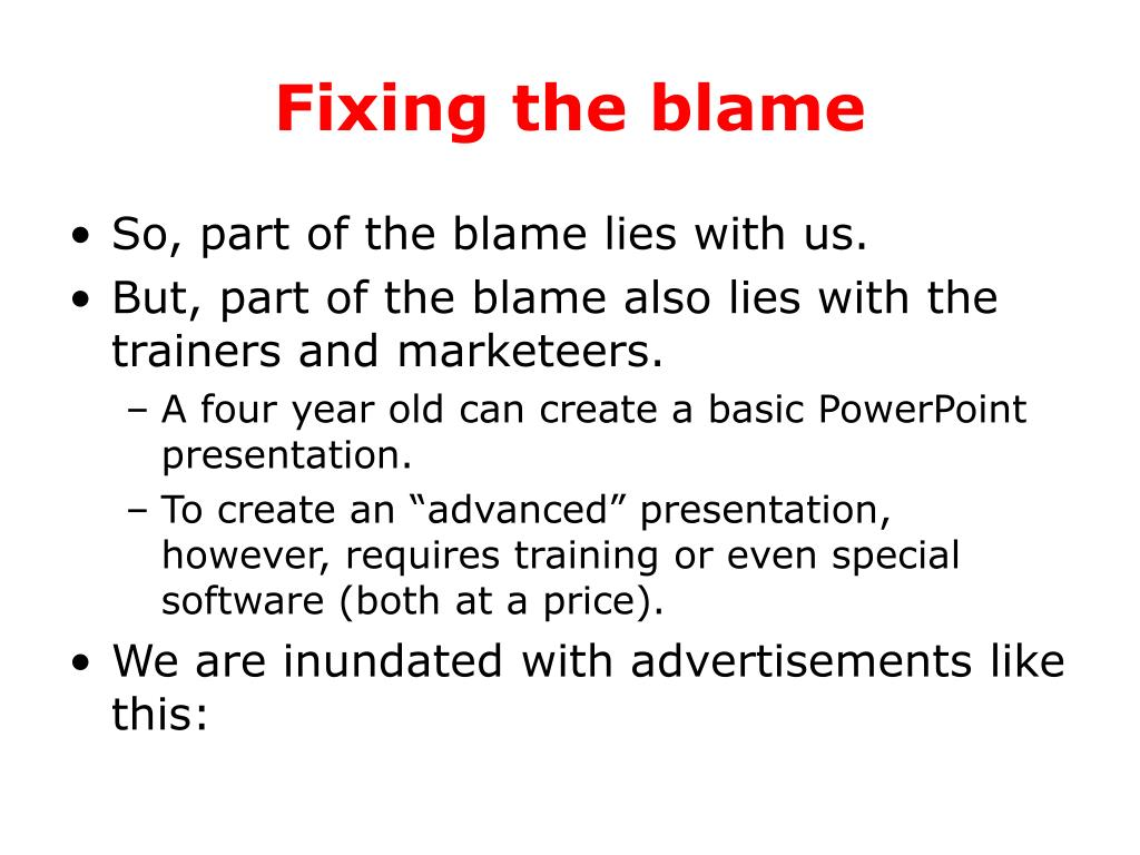 Fixing the blame