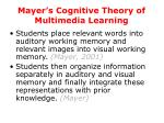 mayer s cognitive theory of multimedia learning