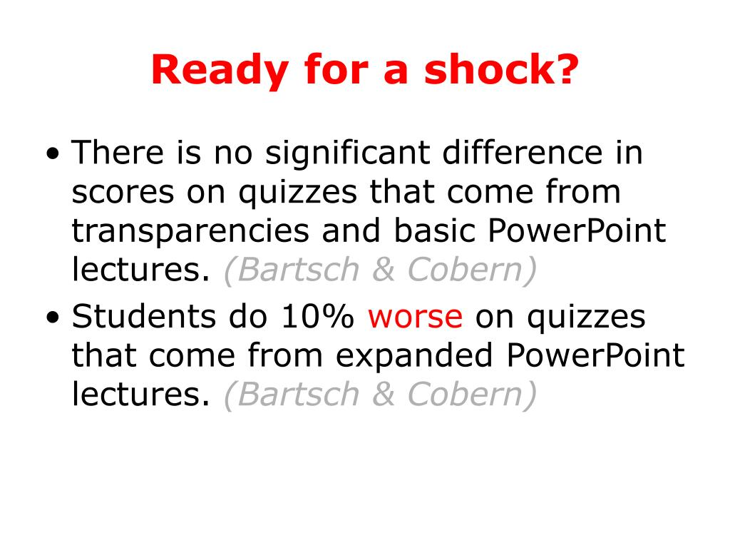 Ready for a shock?