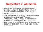subjective v objective
