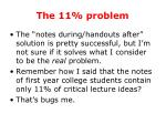 the 11 problem