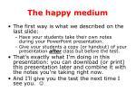 the happy medium52