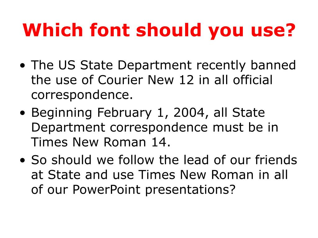 Which font should you use?
