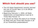 which font should you use