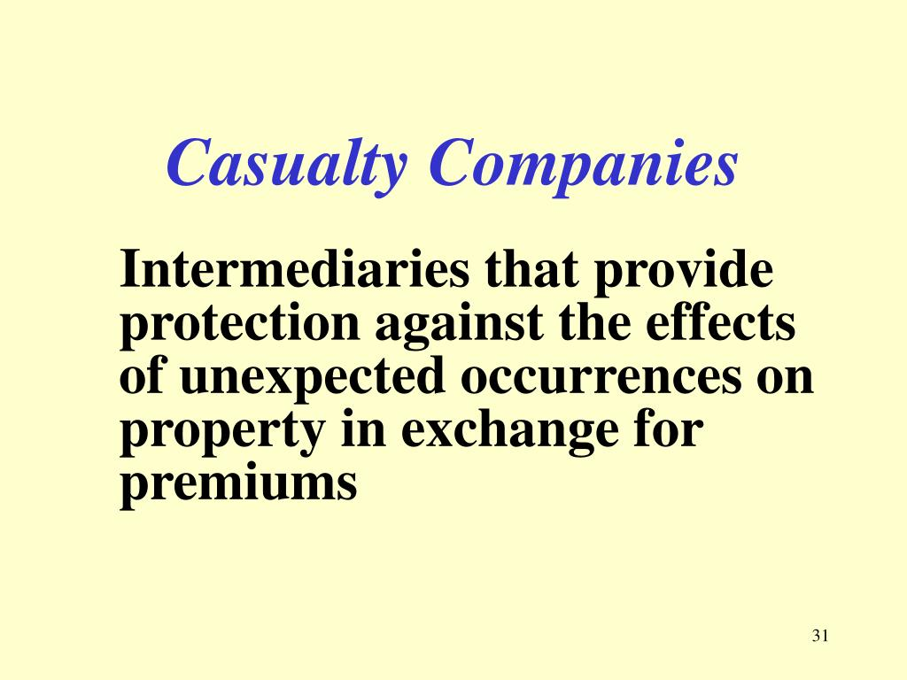 Casualty Companies
