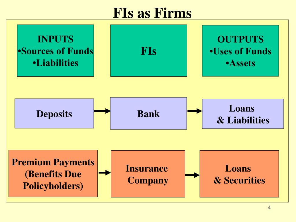FIs as Firms