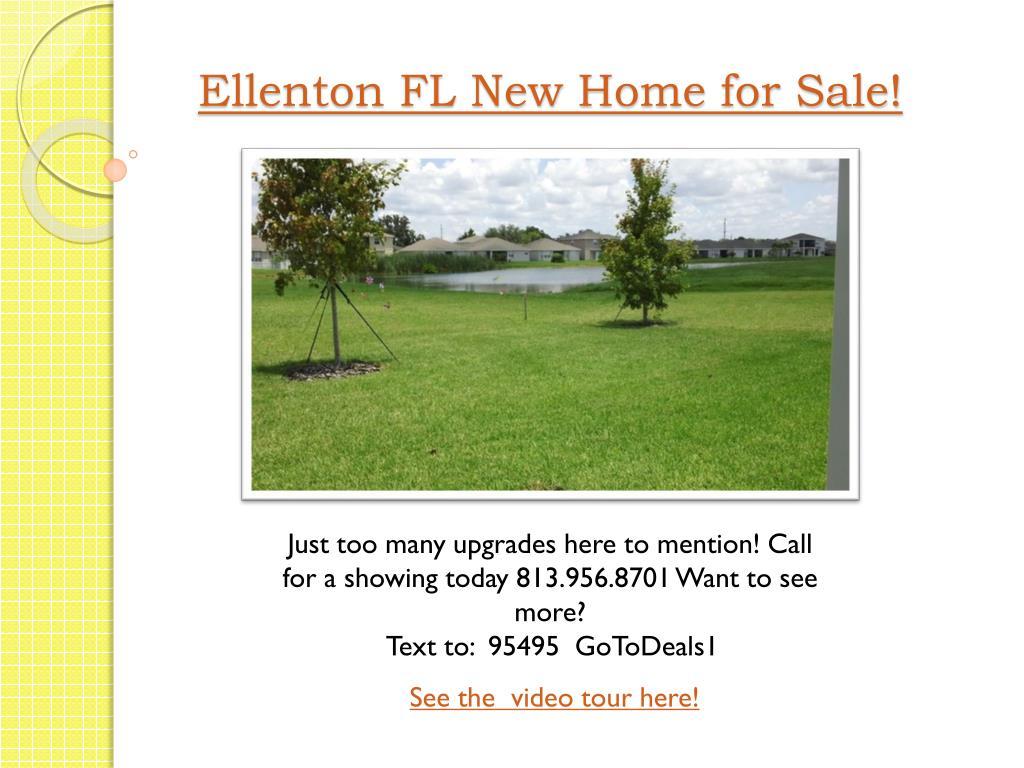 Ellenton FL New Home for Sale!
