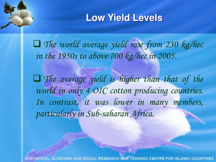 Low Yield Levels