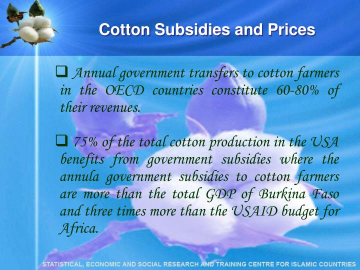 Cotton Subsidies and Prices