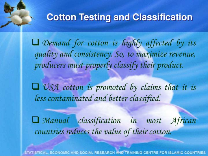 Cotton Testing and Classification