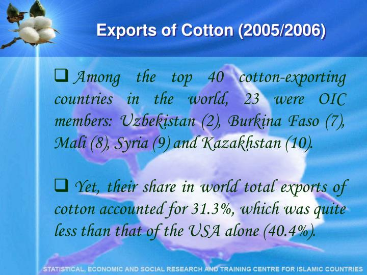 Exports of Cotton (2005/2006)