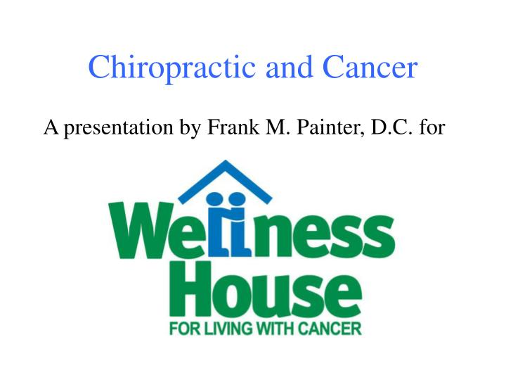 chiropractic and cancer n.
