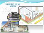 instalacion del gas natural