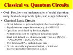 classical vs quantum circuits