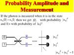 probability amplitude and measurement