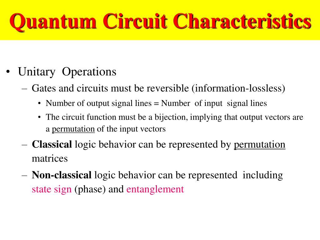 Quantum Circuit Characteristics