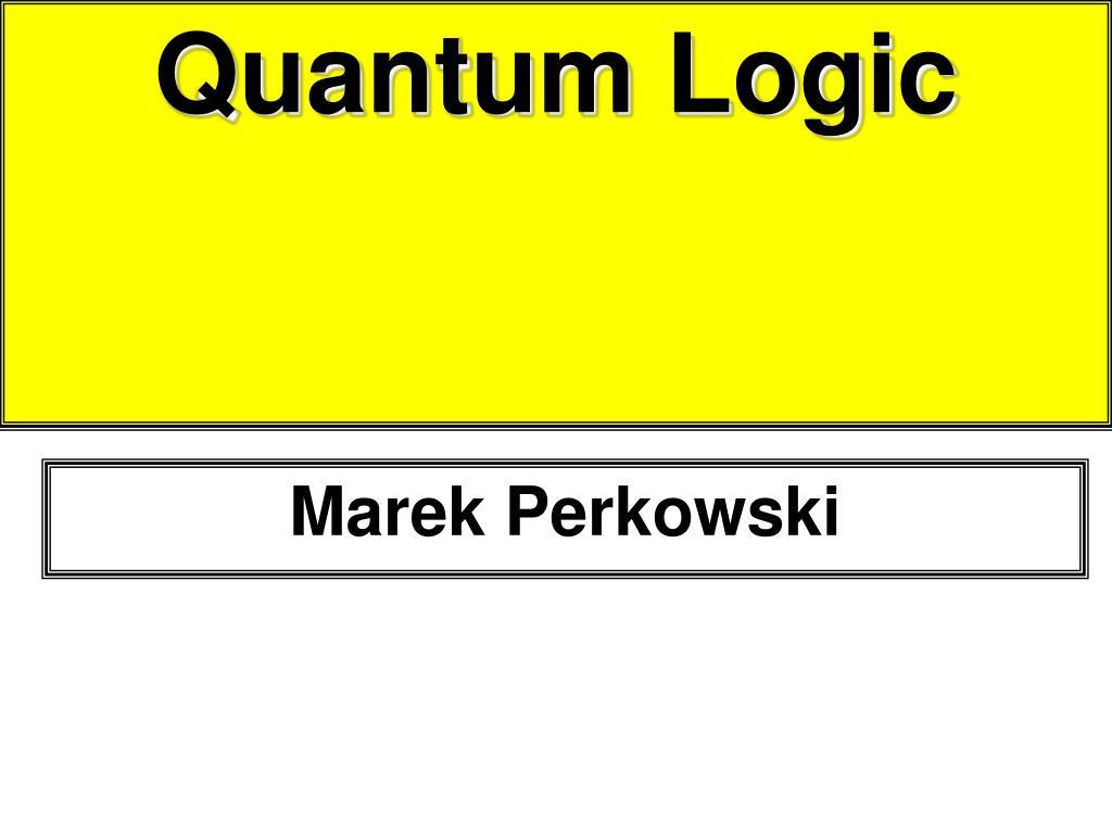 quantum logic l.