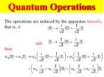 quantum operations