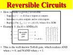 reversible circuits49
