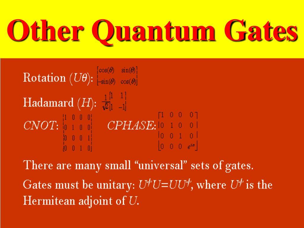 Other Quantum Gates