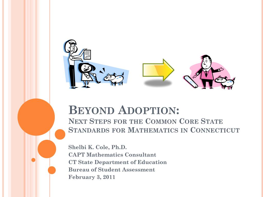 beyond adoption next steps for the common core state standards for mathematics in connecticut l.